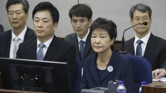 Die ehemalige Südkoreanische Präsidentin Park Geun Hye im Gericht. (Archivbild)