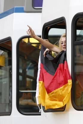 So feierte Deutschland seinen Sieg über Argentinien