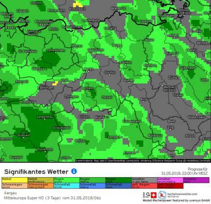 Wetter-Prognose Kachelmannwetter für Donnerstag 22 Uhr