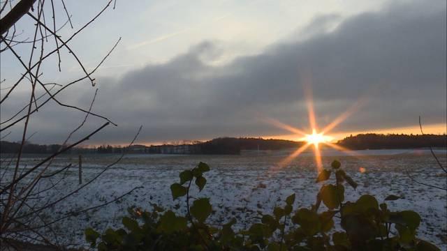 Eisiger Morgen auch im Flachland