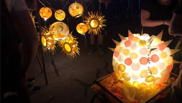 Der Lichterumzug war einer der Höhepunkte des Fests. Fotos: zvg