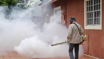 Die Angst vor dem Zika-Virus hat Florida erreicht. Mit Insektiziden rücken die Behörden Mücken zu Leibe, die das Virus übertragen. Und nun gibt es für Teile von Miami eine Reisewarnung für schwangere Frauen. (Archiv)