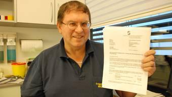 Ingo Malm, Arzt in Rudolfstetten,sieht sich mit schwerwiegenden Vorwürfen konfrontiert. fh/archiv