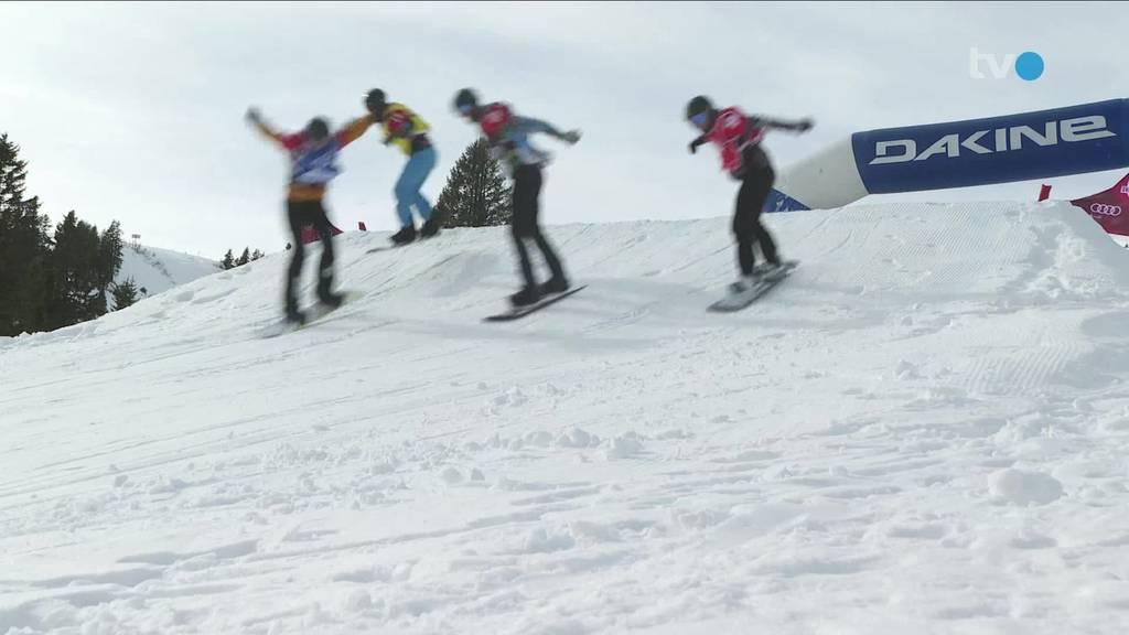 Snowboardcrosser messen sich in Flumserberg