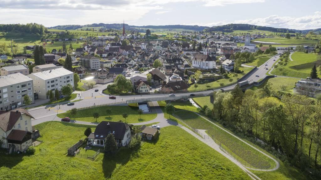 Der Verkehr soll den historischen Dorfkern «Flecken» in Beromünster künftig umfahren.