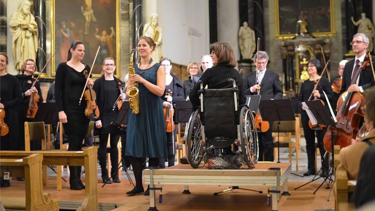 Lisa Wyss und die sinfonia.baden begeisterten in der Badener Stadtkirche das Publikum. zvg