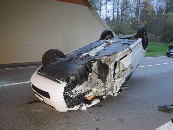 Trotz der Härte des Unfalls kam wurde keiner der Beteiligten verletzt.