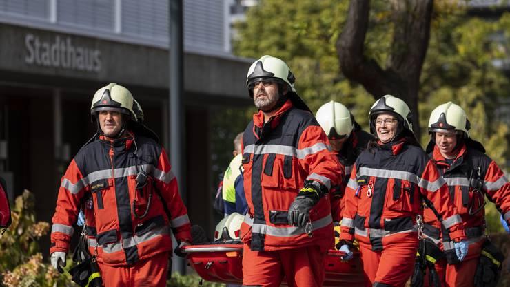 Am Samstag fand die Hauptübung der Feuerwehr Schlieren statt.
