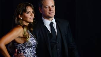 Matt Damon mit Luciana Barroso: Der Schauspieler tritt beruflich kürzer, um mehr Zeit für seine Familie zu haben. (Archivbild)