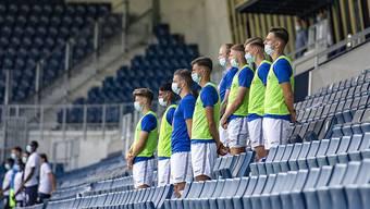 Aus den Reihen des FC Luzern, hier die Ersatzspieler im Testspiel am 25. August gegen den FC Zürich, gibt es einen positiven Corona-Fall zu vermelden