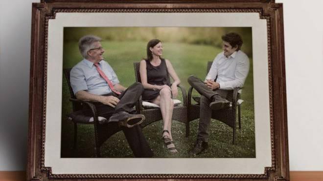 Ein Bild aus glücklichen Tagen: Die Parteipräsidenten Oskar Kämpfer (SVP), Christine Frey (FDP) und Marc Scherrer (CVP). Foto: Marco Tancredi/Roland Schmid