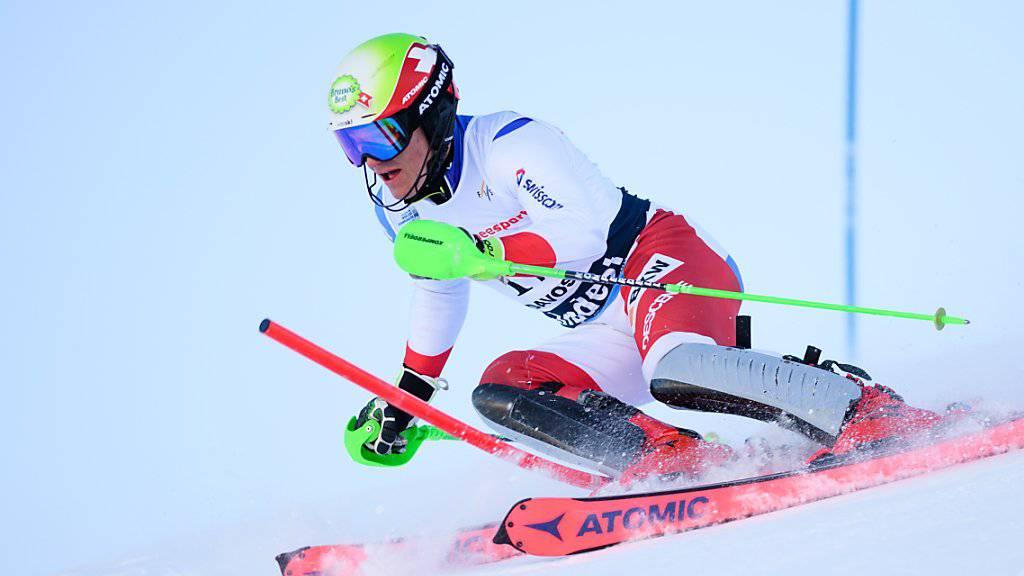 Semyel Bissig fährt im Slalom der Junioren-WM auf Platz 5.