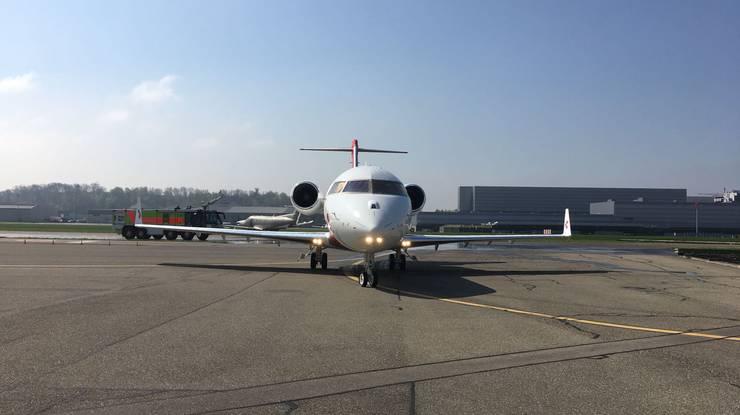 Heute Mittag ist der neue REGA-Ambulanz-Jet auf dem Flughafen Zürich gelandet. Seinen ersten Einsatz wird er am 5.Mai fliegen.