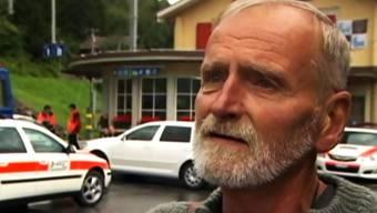 Der Badener Max Lienert (70) hat das Zugunglück unverletzt überstanden.