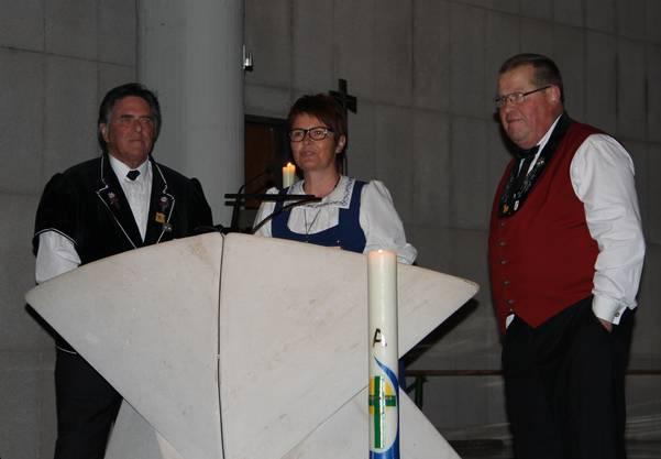 Präsidentin NWSJV Silvia Meister mit dem  OK Hans Burkhalter und Bruno Vaterlaus.