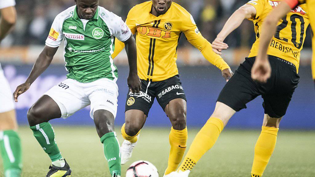 Die Young Boys gehen auch im Heimspiel gegen St. Gallen als Sieger vom Platz