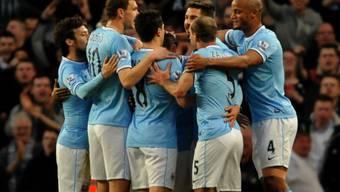 Manchester City bejubelt das 2:0 durch Agüero