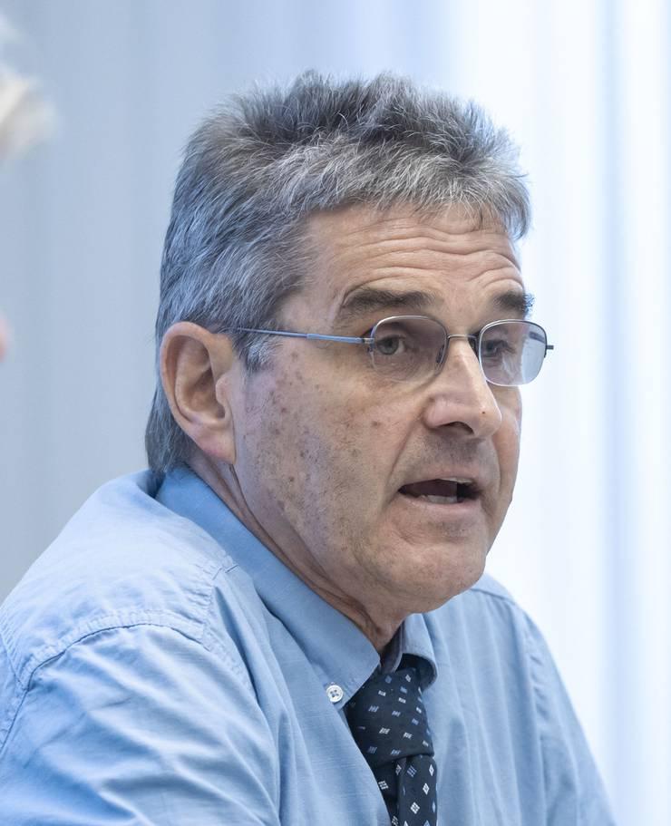 Medienkonferenz Steuervorlage, v.l. Volkwirtschaftsdirektorin Brigit Wyss, Thomas Steiner (Leiter Gemeindefinanzen)