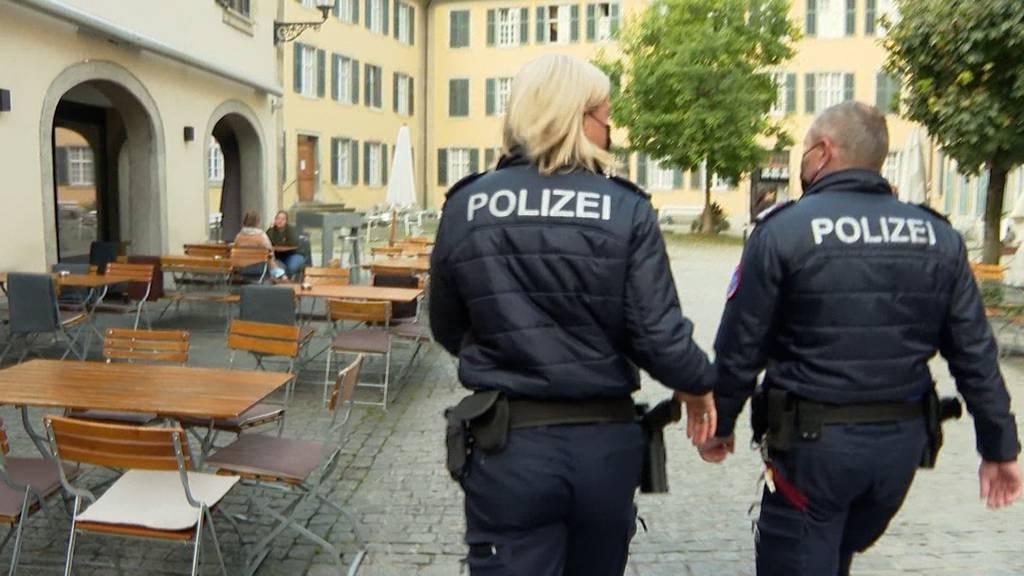 Zertifikatskontrolle: Stadtpolizei Winterthur auf Patrouille