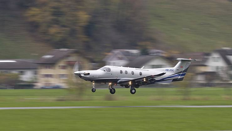 Ein Kleinflugzeug des Typs PC-12 des Schweizer Herstellers Pilatus. (Archivbild)