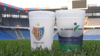 Seit der Rückrunde der Saison 2015/2016 gibt es die Mehrwegbecher im Joggeli. Jetzt wird auch ausserhalb des Stadions überall ein Pfandsystem eingeführt.