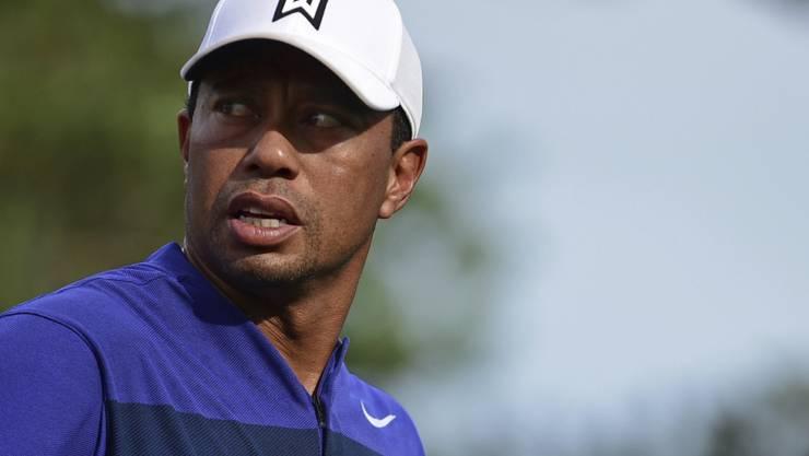 Den verunsicherten Blick hat Tiger Woods derzeit nicht nötig