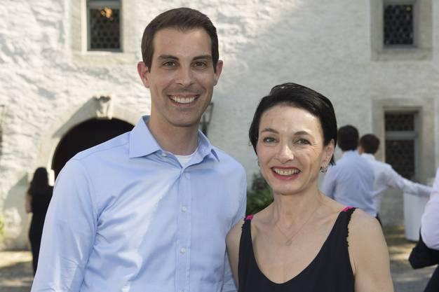 Die Grossräte Thierry Burkart und Marianne Binder (von links).