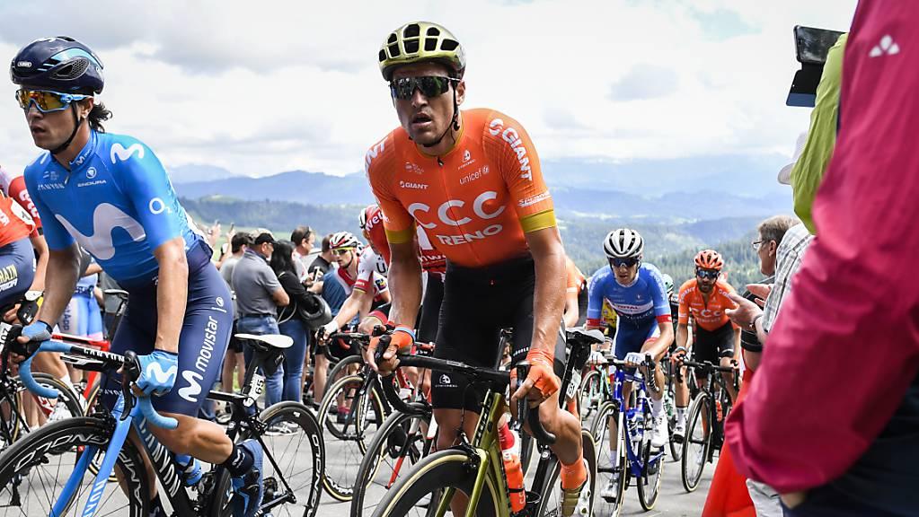 Greg van Avermaet (oranges Trikot), im Bild während der Tour de Suisse diesen Sommer, gewann in Montreal das erste World-Tour-Rennen seit über zwei Jahren