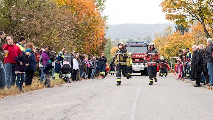 Die Feuerwehr simuliert einen Ernstfall