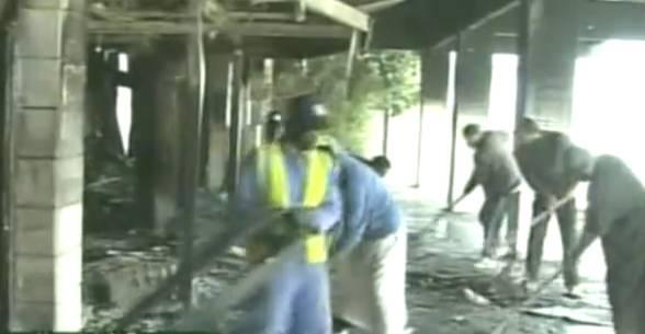 Screenshot des libyschen Staatsfernsehens.