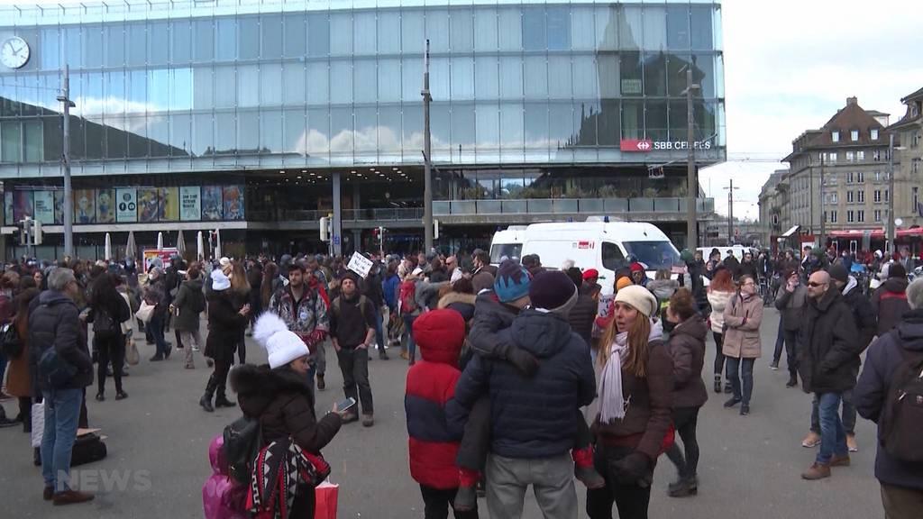 Corona-Demo in Bern