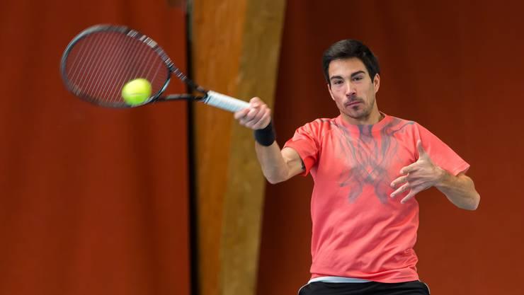 Der Walliser Yann Marti startet als bester Schweizer beim Tennis Pro-Open Aargau in Oberentfelden.