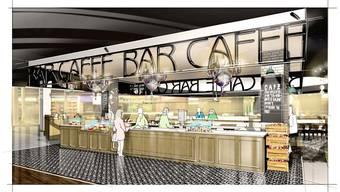 Die Spiga Caffè Bar wird das Herzstück des neuen Food Courts im Shoppi. zvg
