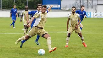 Zwei zentrale Figuren beim FC Bellach: Regisseur Alban Xhema (am Ball) und Goalgetter Alessandro Fragale.