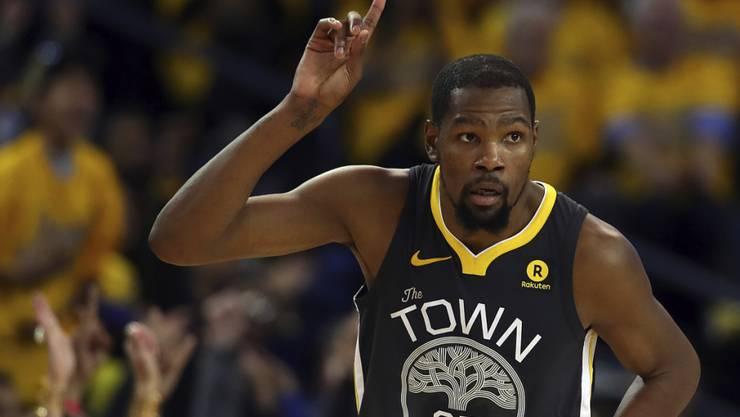 Kevin Durant führt mit Golden State in den Playoffs gegen San Antonio standesgemäss mit 2:0