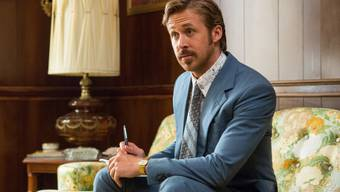 """Ryan Gosling sass einst auf der Couch eines Psychiaters. Der riet ihm, Komödien zu drehen - was der Kanadier befolgte. Ab Donnerstag ist er in der US-Komödie """"The Nice Guys"""" zu sehen. (Archivbild)"""