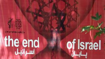 Anti-israelisches Plakat in Teheran am Al-Kuds-Tag