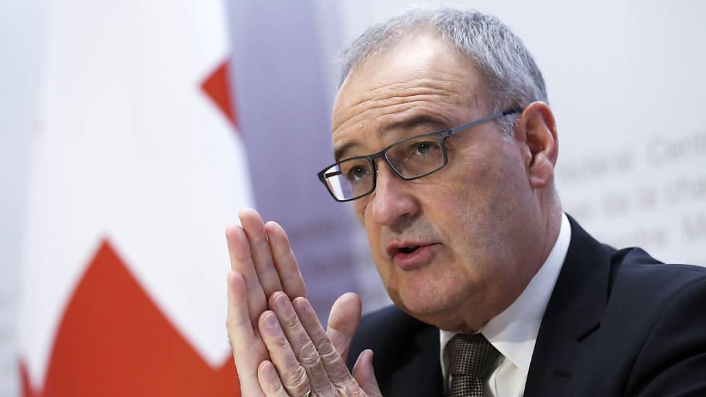 Wirtschaftsminister Guy Parmelin ist im nächsten Jahr Bundespräsident. Die Vereinigte Bundesversammlung hat ihn am Mittwoch turnusgemäss in dieses Amt gewählt. (Archivbild)
