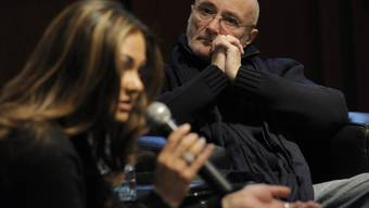 """Phil Collins und seine Ex-Frau Orianne 2011 bei der Präsentation der """"Little Dreams Foundation"""". Für die Stiftung unterbricht er jetzt seinen Ruhestand als Sänger (Archiv)."""