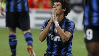 Inter Mailands Brasilianer Coutinho nach einer verpassten Chance