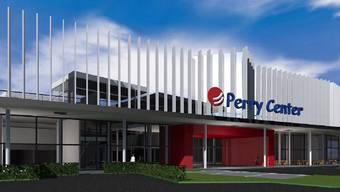 So soll das Perry Center in zwei Jahren aussehen. Das Hotel wird direkt angebaut.