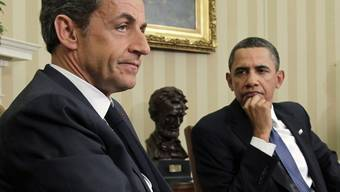 Nicolas Sarkozy zu Besuch bei Barack Obama in Washington