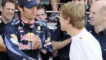 Wie lange hält der interne Frieden zwischen Mark Webber (links) und Sebastian Vettel?