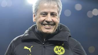 Lucien Favre macht der Job als BVB-Trainer derzeit mächtig Spass