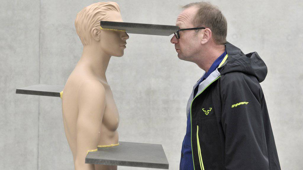 Heimo Zobernig - hier mit einer seiner Skulpturen im Kunsthaus Bregenz - hat Europas höchstdotierten Kunstpreis erhalten (Archiv).