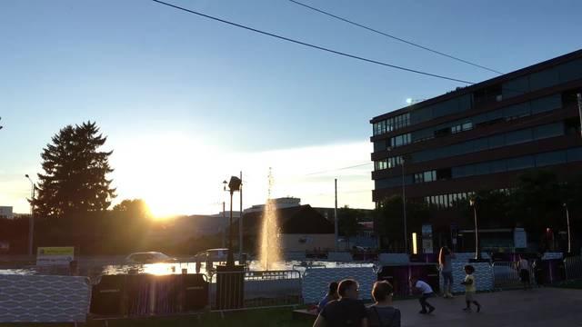 Die Schlieremer Wasserspiele in Aktion