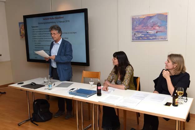 Co-Präsident Marc Joset, Co-Präsidentin Irene Maag und Annina Zimmermann.