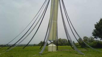 Der Plastik-Turm wurde bisher erst einmal aufgerichtet, in Fällanden. (Archivbild)