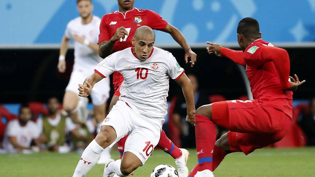 Den Tunesier Wahbi Khazri (Nr. 10) vermochte Panama nicht zu stoppen