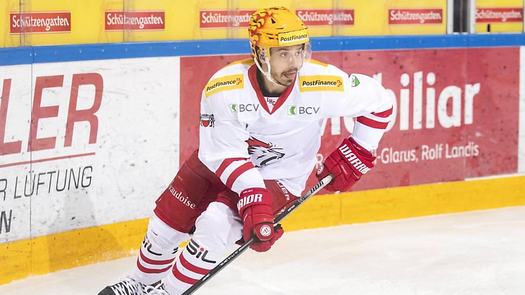 Dennis Malgin trug in dieser Saison das Dress des HC Lausanne, nun kehrt er nach Toronto zurück